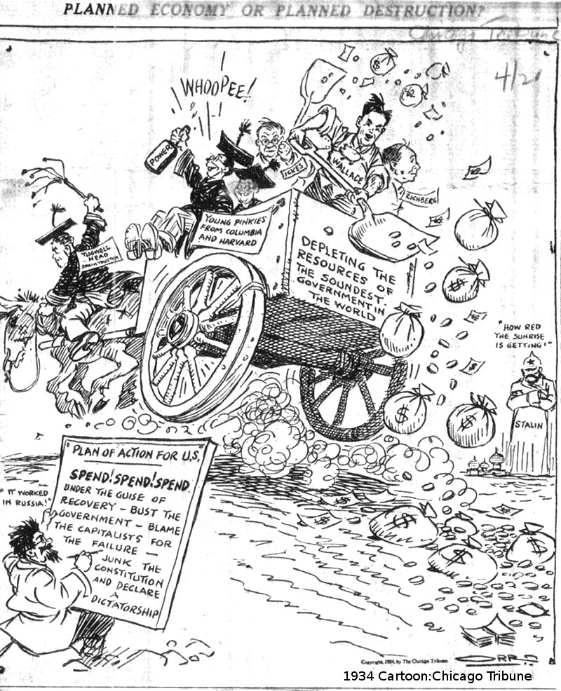 1934 Chicago Tribune cartoon